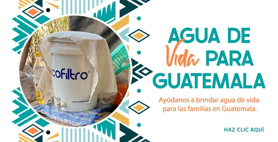 Ayudanos a brindar agua de vida para las familias en Guatemala